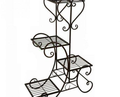 Metal-Outdoor-Indoor-Pot-Plants-Stand-Garden-Decor-Flower-Rack-Wrought-Iron