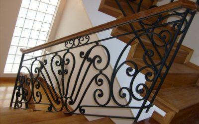 ferforje merdiven korkuluğu